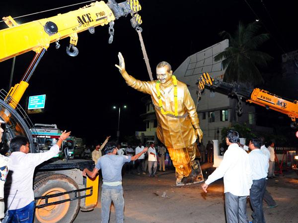 Photos Ysr Statue Removal Triggers Row Vijayawada