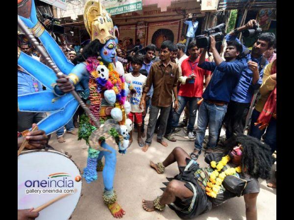 Bonalu fever : Meat and wine shops are packed