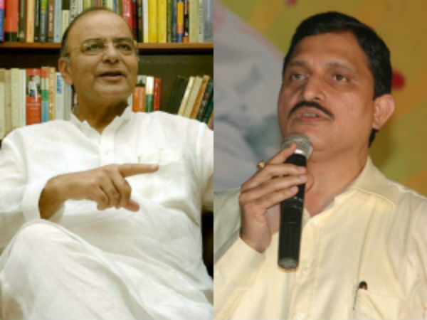 Venkaiah and Sujana Meets With Arun Jaitley