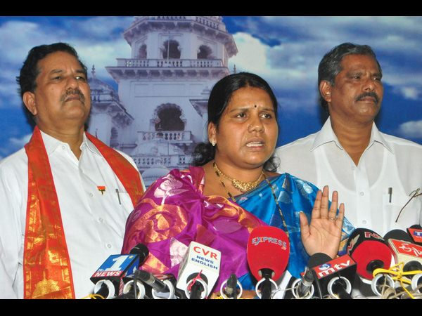 Peethala Sujatha says YSRCP MLAs behaving like rowdies in assembly