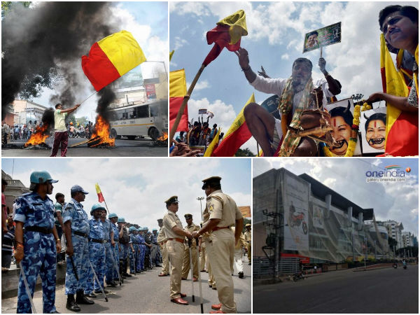 బెంగళూరులో కర్ఫ్యూ: ఆందోళనలు హింసాత్మకం, బయటకు రావొద్దు