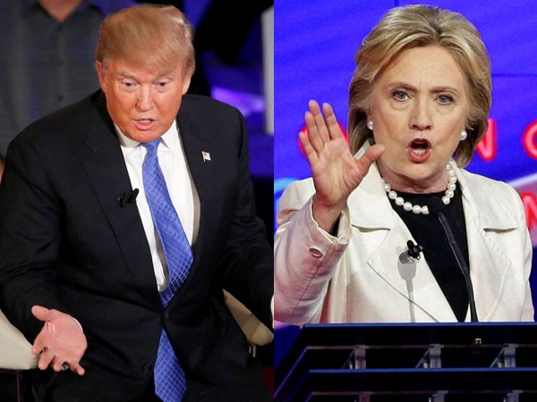 Hillary v Donald Trump at the AI Simth dinner in New York