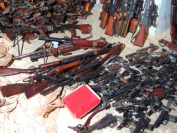 20000 weapons seized in college hostel