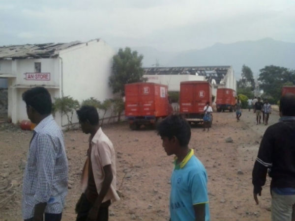 explosives blast near trichy: 10 killed