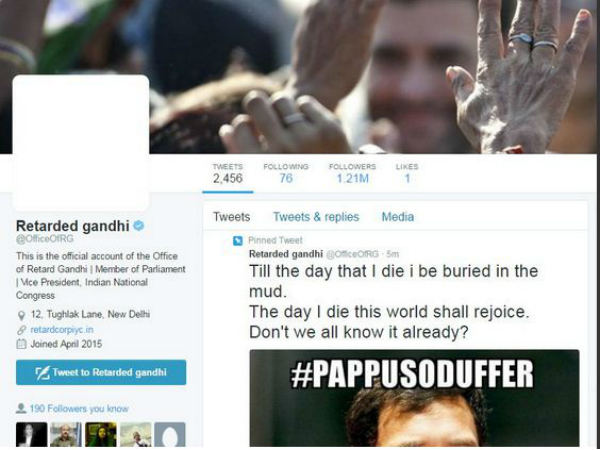 Rahul Gandhi's Twitter account hacked, Abusived tweets posted !