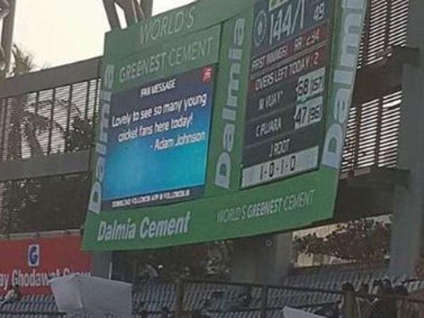 Cricket England Fans Hijack Scoreboard In India