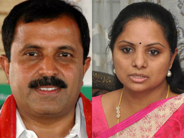 Madhu Yashki hot comments on Kavitha and KCR