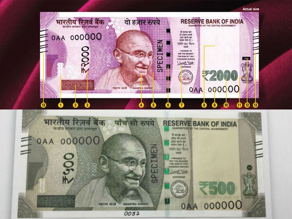 RBI Central Board okayed design of Rs 500, Rs 2000 notes in May