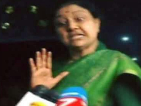 Sasikala condemned sucide rumours on her