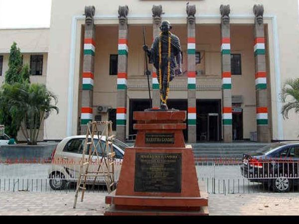 Contract Lecturers Protest Infront Gandhi Bhavan