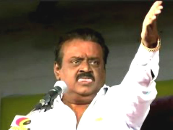 DMDK leader Vijayakanth beaten his cadre in Panrutti