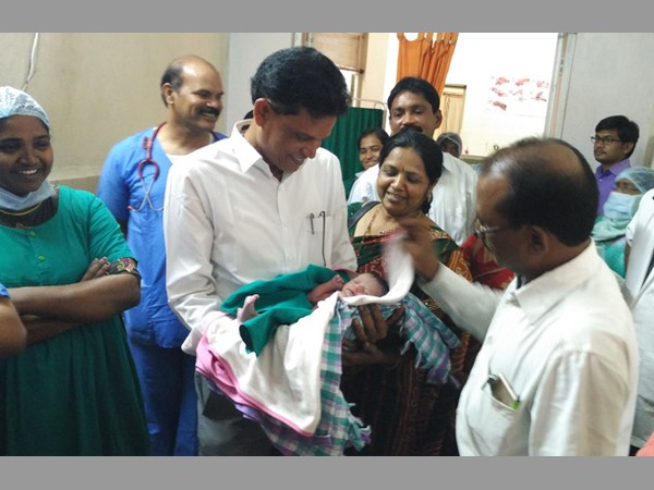Bhupalpalli Collector's daughter delivers at govt hospital