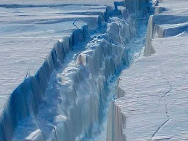 Climate change in antarctic creating tension