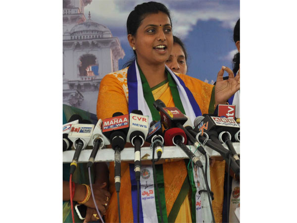 After a year.. YSR CP MLA Roja in Assembly