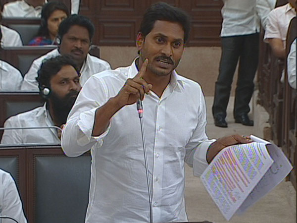 ys jagan Party MLA protest in Assembly after mic cut