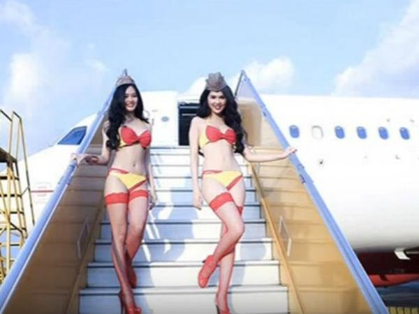 Photos This Airline S Hot Air Hostesses Dress Bikinis