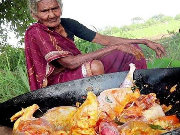 106 ఏళ్ల బామ్మ... ఈ వయసులో కూడా చికెన్ కూర వండితే... ఆహా నా సామి రంగా...