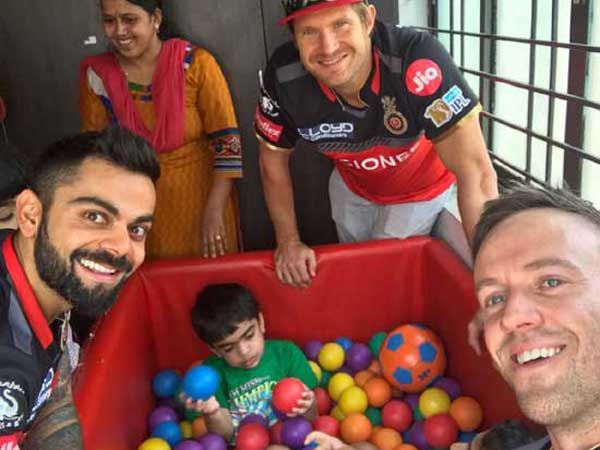 IPL 2017: Virat Kohli Takes A Break to Meet Specially Abled Children