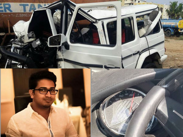 Nishith Narayana Accident Case Mercedes Team Visits Mishap