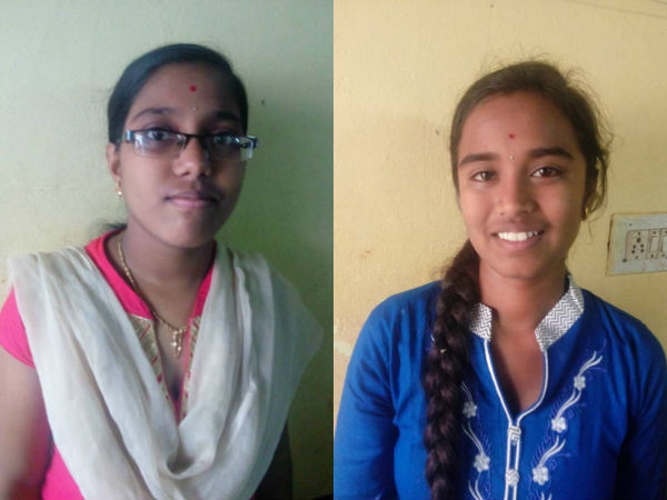 Darani and Srivani from Bengaluru got 95% marks.