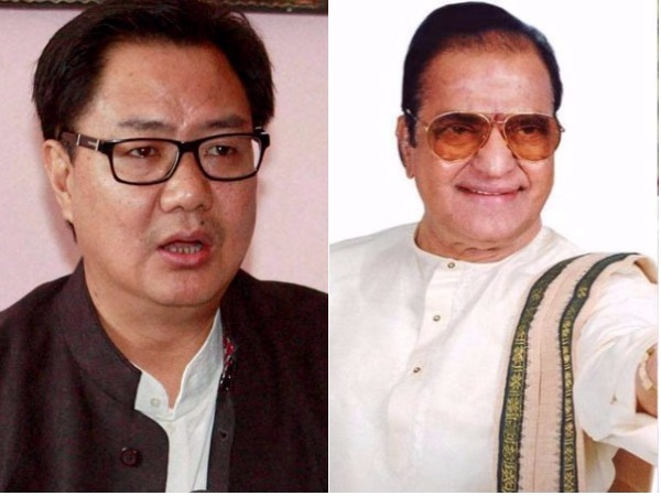 kiren rijiju on Bharat ratna for NTR