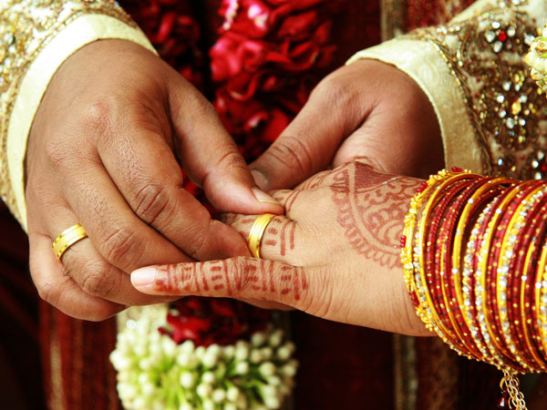 Two boys got married in Karnataka state.