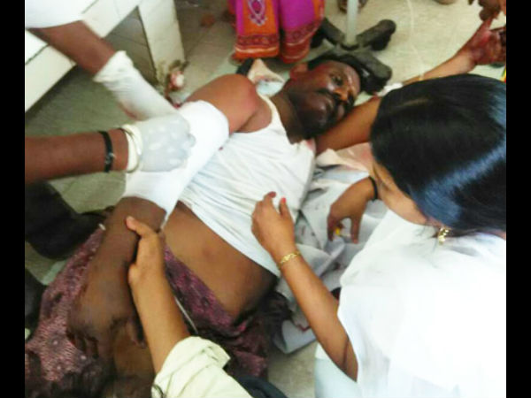 A TDP leader murdered by some YSRCP leaders in Guntur district on Wednesday.
