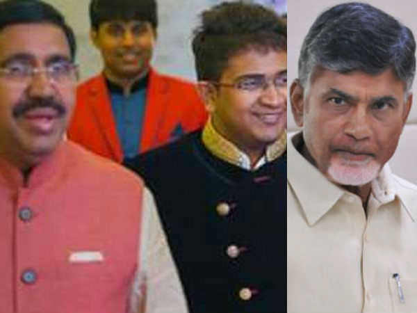 Chandrababu Met Minister Narayana Says Condolance His Son Death