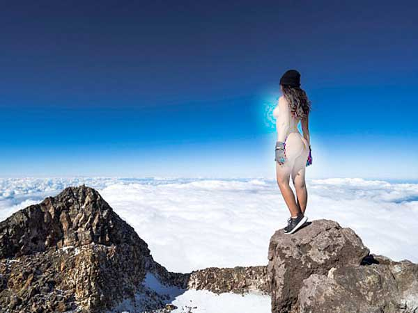 Outrage in New Zealand as Playboy model poses NAKED on top of sacred Mt Taranaki