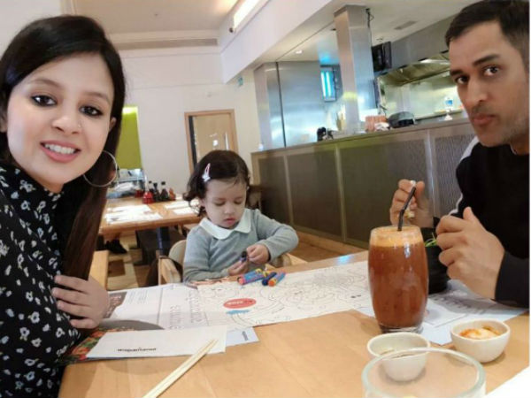 ICC Champions trophy: MS Dhoni enjoys a good time with family