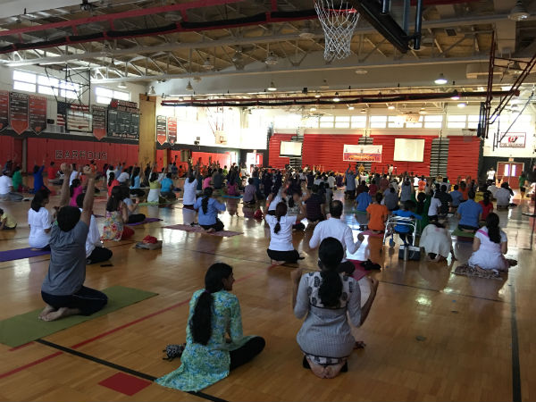 3rd Yoga Day Celebration Newjersey Usa Organised Hss