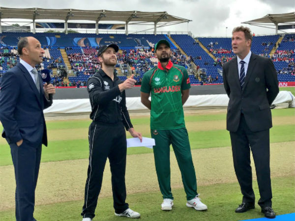 ICC Champions Trophy: Match 9: Unchanged New Zealand elect to bat against Bangladesh