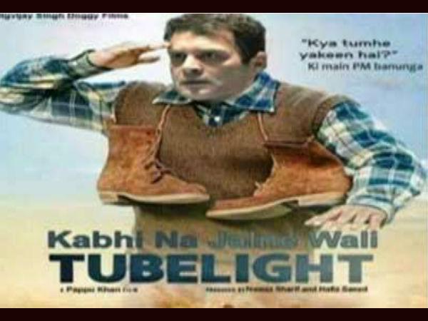 'ఎప్పటికీ వెలగని ట్యూబ్లైట్': రాహుల్ గాంధీపై వివాదాస్పద పోస్టర్