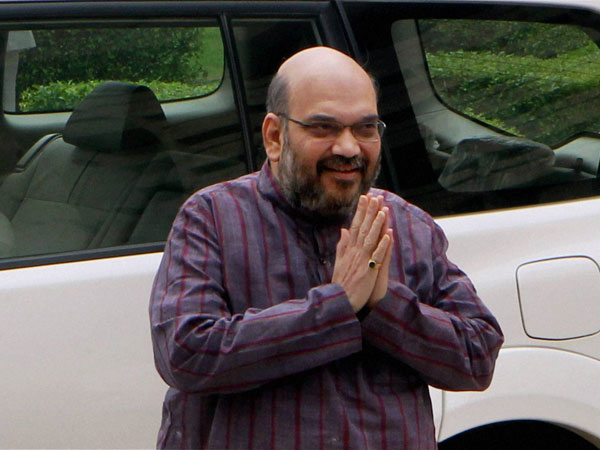 Vehicle Amit Shah S Convoy Hits Cow Odisha Bjd Takes Dig At Bjp Chief