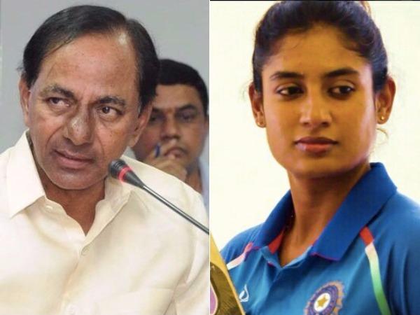 సానియా, సింధులకైతే అలా..: కెసిఆర్కు మిథాలీ రాజ్ పట్టదా?