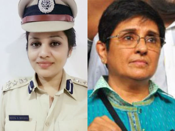 Puducherry Lt Governor Kiran Bedi and Karnataka IPS Roopa