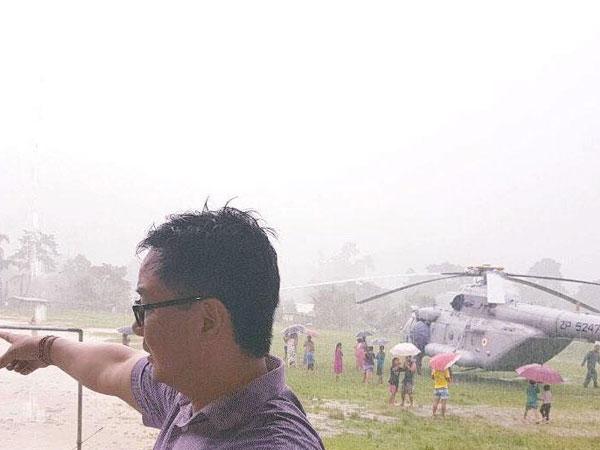 Kiren Rijiju S Chopper Makes Emergency Landing Itanagar Safe