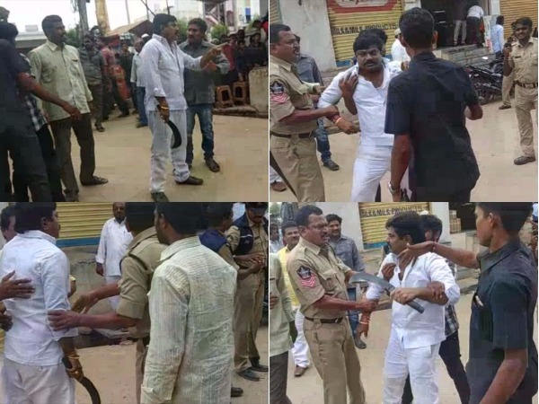 Day After By Election Tdp Ysrc Workers Clash Nandyal