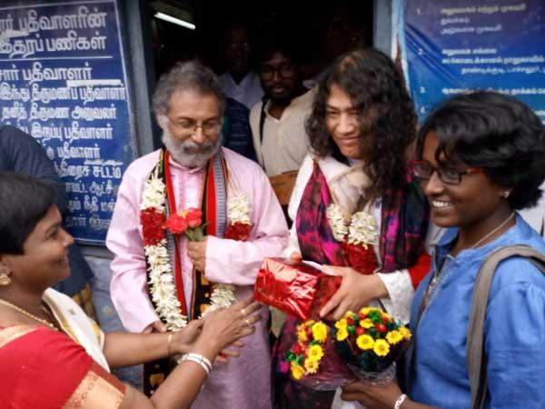 నిరాడంబరంగా ఇరోమ్ షర్మిల పెళ్లి: ఎవరూ రాకపోవడంపై వివరణ
