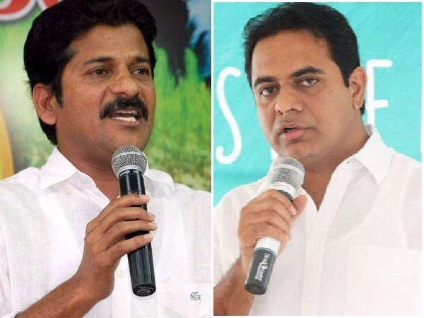 revanth reddy takes on at KTR