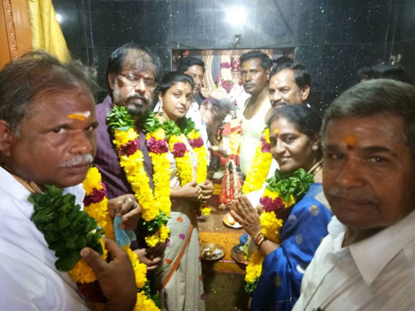 mla roja performs bhumi pooja for new residence in nagari