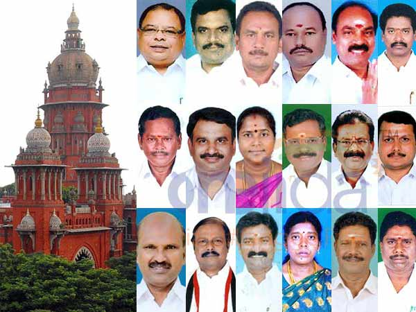 Hearing On Disqualification Tn Mlas Starts At Chennai High Court