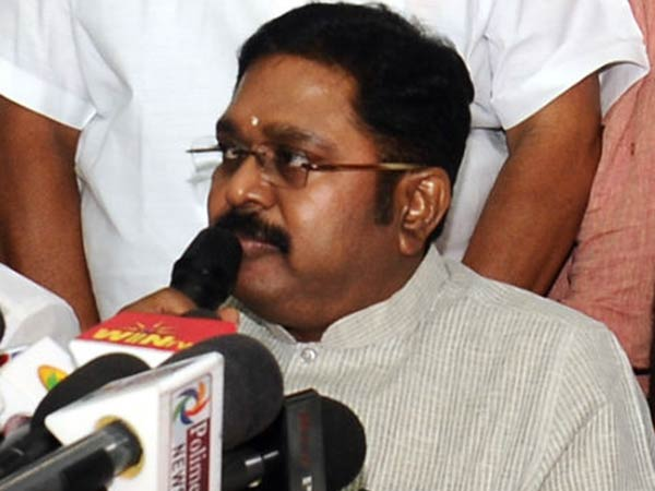 Dinakaran says that governor assures of soon an action against CM palanisamy.