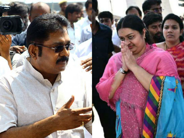 Deepa TTV Dinakaran followers clash with each other at chennai