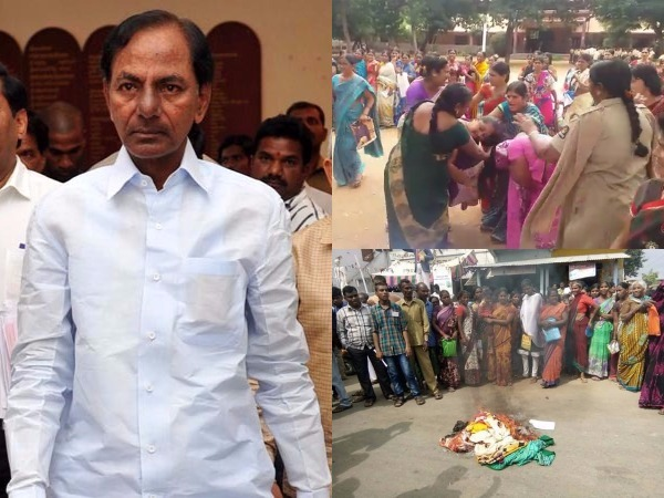 Uproar Over Poor Quality Bathukamma Sarees