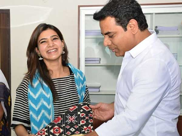 Ts Minister Ktr Thanks Actress Samantha