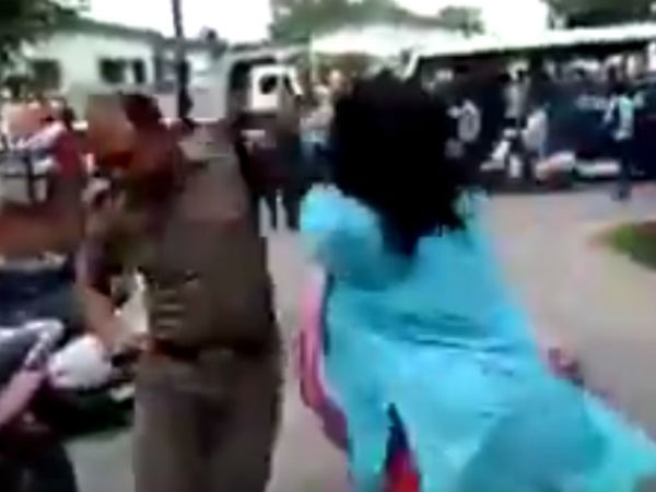 A Woman Beat Police Sub Inspector Dehradun