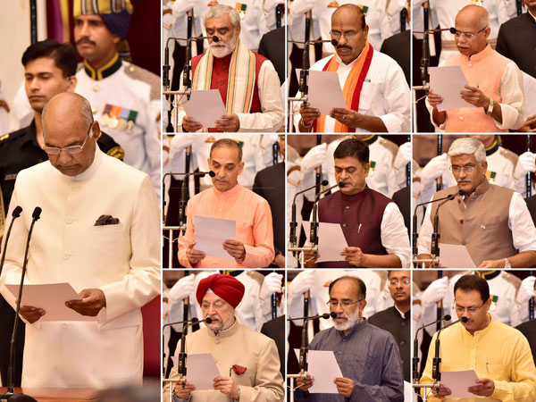 New Ministers Join Modi Government 4 Elevated As Cabinet Ministers