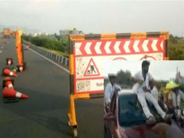 Nandamuri Yuvasena People Rash Driving At National Highway