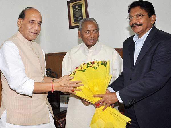 Governor Vidyasagar Rao Meets Union Home Minister Rajnath Singh